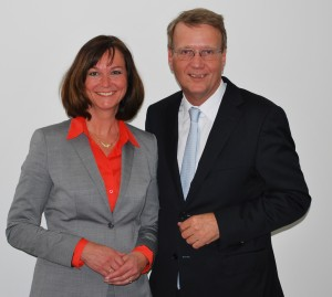 Roswitha Bannert-Schlabes traf Ronald Pofalla im Bahn-Tower in Berlin.