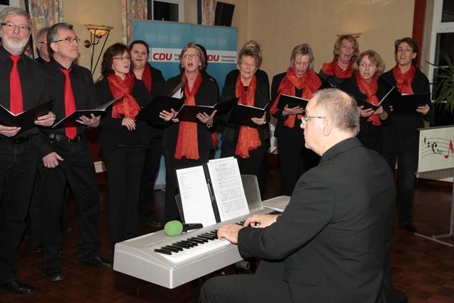 Der Chor Murisono sorgt für flotte musikalische Unterhaltung.